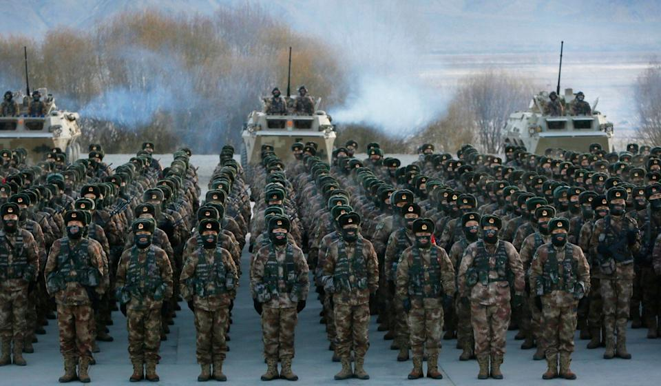 Observers say the PLA's joint operation capabilities were ripe for improvement. Photo: AFP