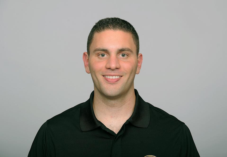 BALTIMORE, MD - CIRCA 2010:  In this handout image provided by the NFL , Matt Weiss of the Baltimore Ravens poses for his 2010 NFL headshot circa 2010 in Baltimore, Maryland.  ( Photo by NFL via Getty Images)