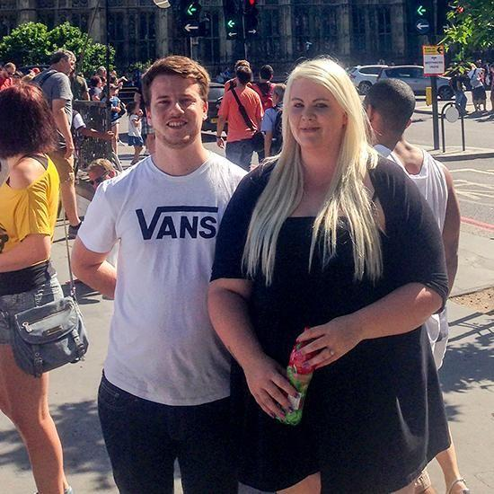 Katie Dolan was a size 24 at her heaviest and was addicted to takeaway food. Photo: Caters News