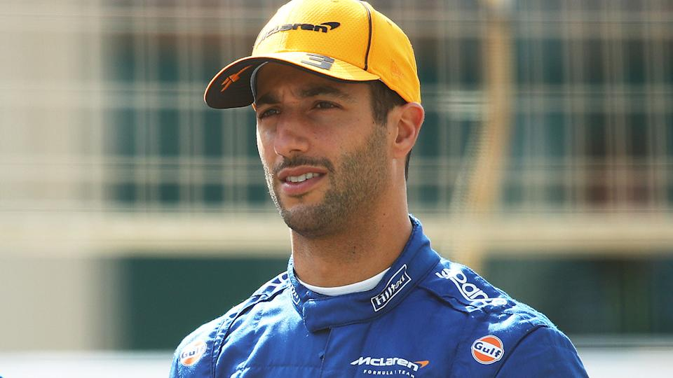 Daniel Ricciardo says rear braking and stability are his biggest issues in the early days of his stint with McLaren. (Photo by Joe Portlock/Getty Images)