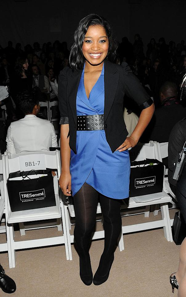 "Nickelodeon star Keke Palmer was all smiles as she popped a pose at the Charlotte Ronson show. Jamie McCarthy/<a href=""http://www.gettyimages.com/"" target=""new"">GettyImages.com</a> - February 12, 2010"