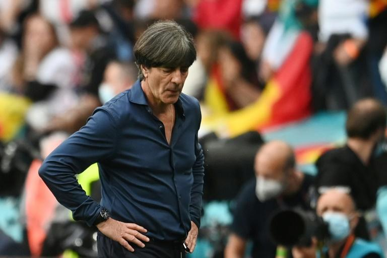 Joachim Loew shows his disappointment after defeat to England knocked Germany out of Euro 2020