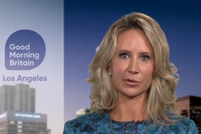 Lady Victoria Hervey has insisted that 'sex trafficking' is not the right term to describe Epstein's crimes: GoodMorningBritain/ITV