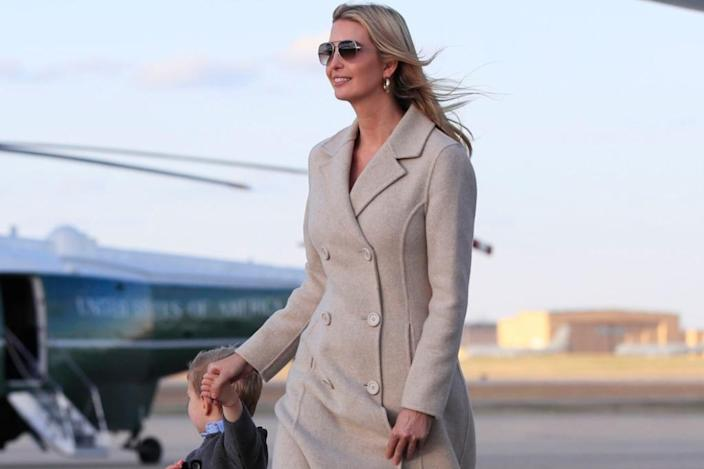 Ivanka Trump Models a Sandy Outfit With Melania's Favorite