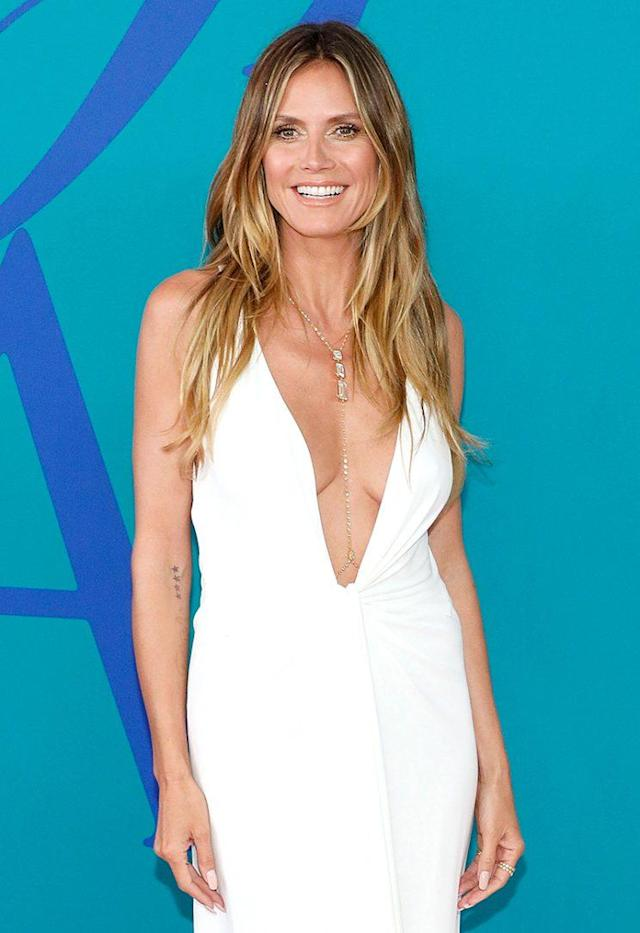 Model Heidi Klum looks gorgeous with or without makeup. (Photo: Taylor Hill/FilmMagic)