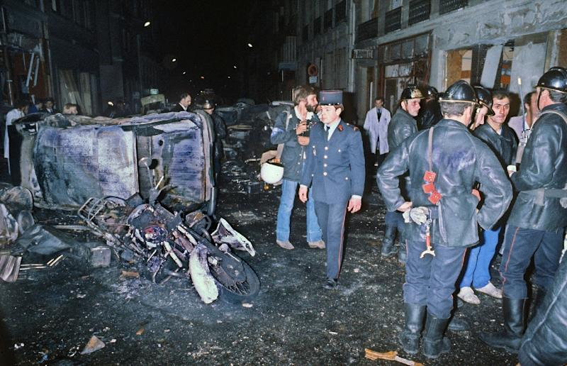 Four people were killed and 40 injured in the October 3, 1980 bombing of a synagogue on Rue Copernic in Paris (AFP Photo/STF)