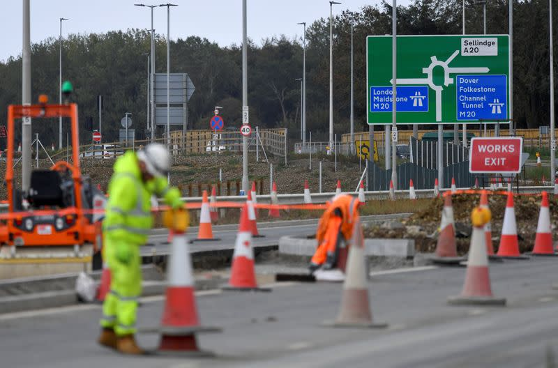 FILE PHOTO: Construction work takes place in Ashford
