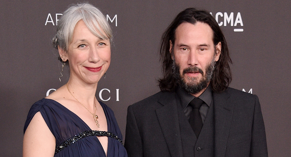 Alexandra Grant and boyfriend Keanu Reeves. Image via Getty Images.