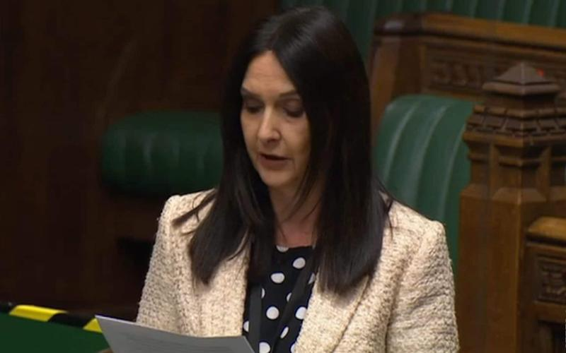 Margaret Ferrier gave a speech in the Commons on Monday evening - Parliament TV/PA