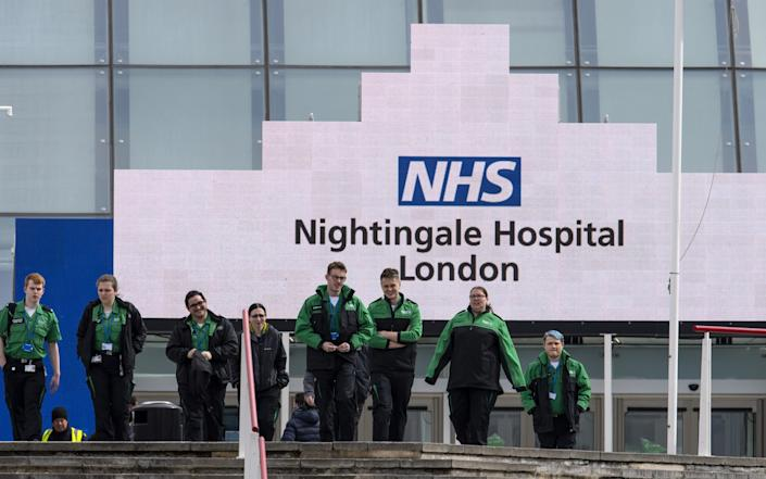 NHS Nightingale Hospitals provide extra capacity for the treatment of patients with Covid-19 - Justin Setterfield/Getty Images Europe