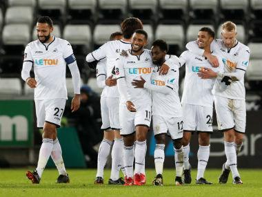 Swansea racked up the biggest FA Cup win in their history as Tammy Abraham and Nathan Dyer inspired an 8-1 thrashing of Notts County in Tuesday's fourth round replay