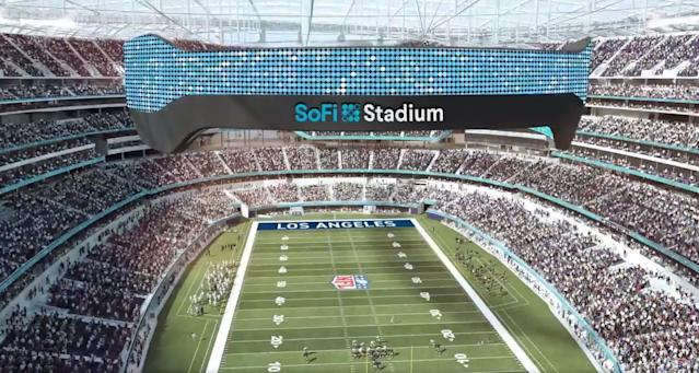 SoFi Buys Naming Rights to the New Chargers and Rams Stadium