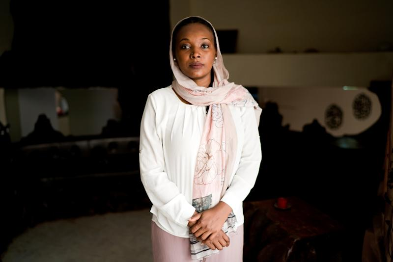 Shems Osman, 32, employee at an international company, poses for a photograph in Khartoum, Sudan, June 29, 2019. Osman studied psychology in Canada. She has Canadian citizenship but she chose to return to Sudan. (Photo: Umit Bektas/Reuters)