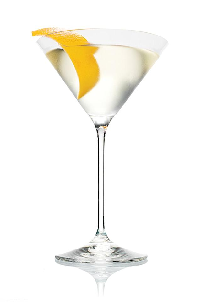 <p><strong>The Drink</strong><br></p><p>Martinis are eternally chic. (Have you ever known anyone who looks anything but cool while drinking James Bond's iconic cocktail?) No need to sully their purity with olive juice–simple is delicious!</p><p><em></em><strong>The Recipe</strong></p><p><em></em> 2 oz Belvedere Vodka </p><p>1/3 oz Dry Vermouth</p><p>Serve this classic 'tini shaken, not stirred; garnish with a lemon twist. </p>