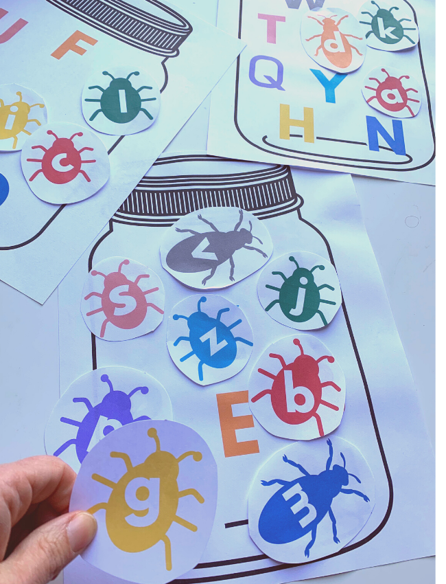 "<p>Little ones will get a kick out of this bug-themed scavenger hunt —and learn to tell the difference between their upper and lowercase letters in the process.</p><p><em><a href=""https://www.notimeforflashcards.com/2020/03/alphabet-scavenger-hunt.html"" rel=""nofollow noopener"" target=""_blank"" data-ylk=""slk:See more at No Time for Flash Cards »"" class=""link rapid-noclick-resp"">See more at No Time for Flash Cards »</a> </em></p>"