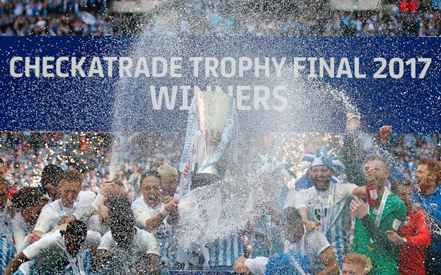 <span>Coventry's players lift the trophy at Wembley</span> <span>Credit: Rex Features </span>