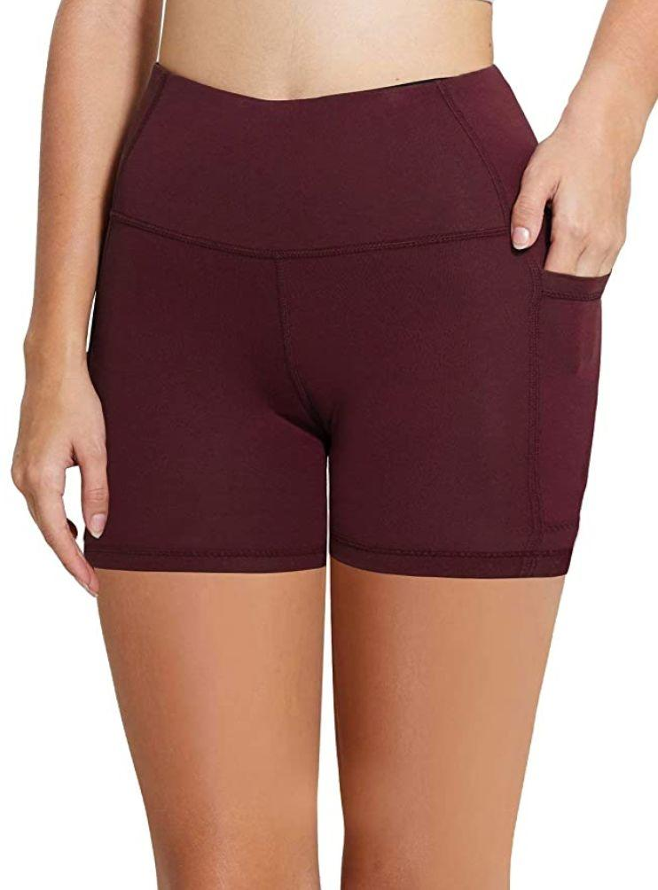 """You might want to run to these <a href=""""https://amzn.to/3kCuO8D"""" target=""""_blank"""" rel=""""noopener noreferrer"""">biker shorts with pockets</a>. They come in lots of colors, such as purple and coral. You can pick among different lengths. They're made of a mix of polyester and spandex.<br /><br /><strong>Sizes: </strong>These biker shorts come in sizes XS to 5X.<a href=""""https://amzn.to/3iDMDlZ"""" target=""""_blank"""" rel=""""noopener noreferrer""""><br /></a><strong>Rating: </strong>They have a 4.3-star rating over more than 12,600 reviews.<strong></strong><a href=""""https://amzn.to/3iDMDlZ"""" target=""""_blank"""" rel=""""noopener noreferrer""""><br /></a><strong>$$$:</strong> <a href=""""https://amzn.to/3iDMDlZ"""" target=""""_blank"""" rel=""""noopener noreferrer"""">Find them starting at $20 on Amazon</a>."""