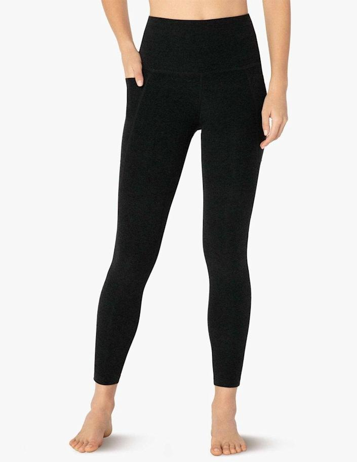 <p>If you're looking for buttery soft, warm leggings you won't want to take off, meet the <span>Beyond Yoga Spacedye Out Of Pocket High Waisted Midi Legging</span> ($99). The deep side pockets are the icing on the cake.</p>