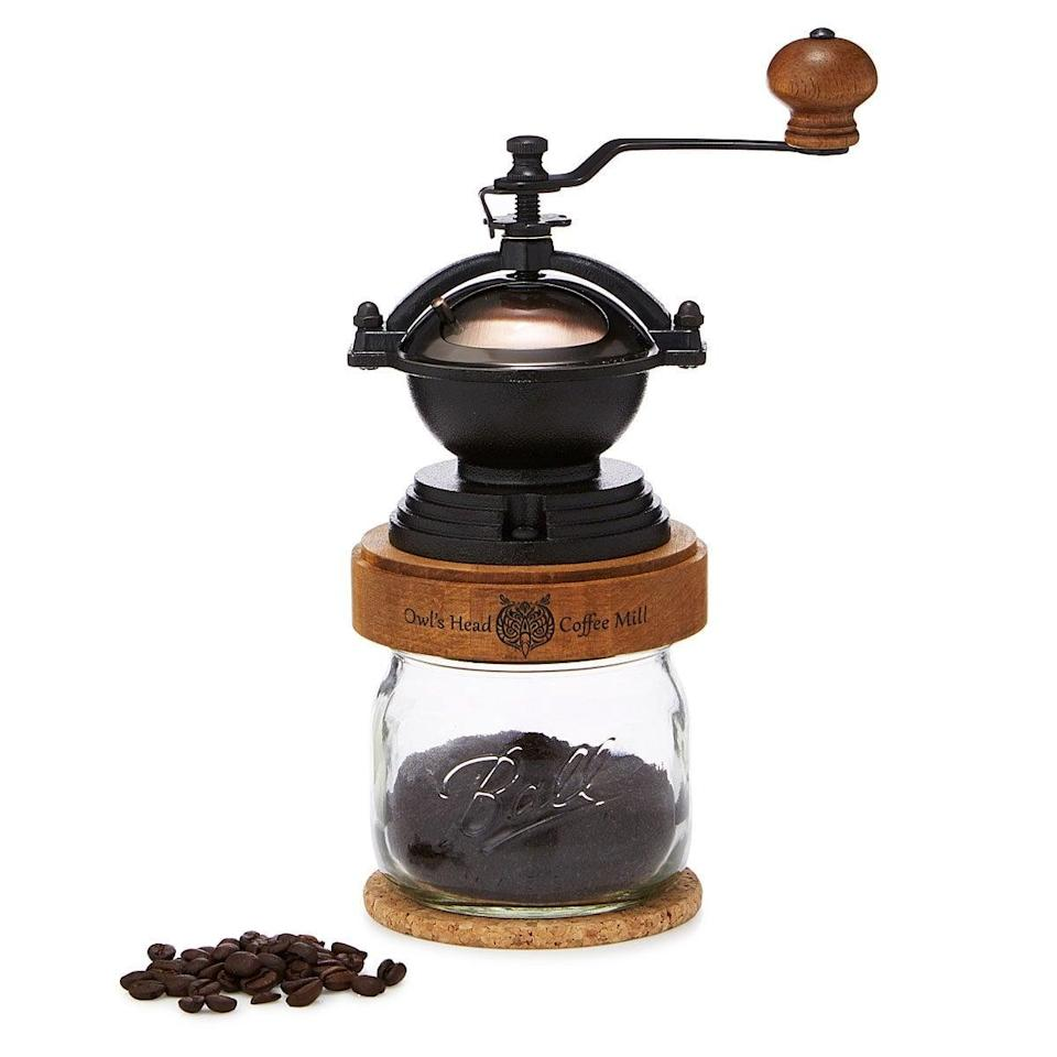 <p>This <span>Steampunk Coffee Grinder</span> ($65) is a chic and retro find for coffee lover.</p>