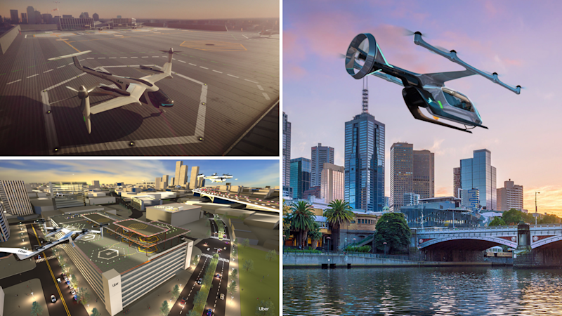 One of Uber's flying cars could be landing near you within months. Images: Uber