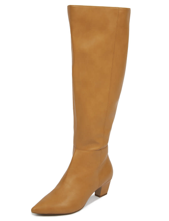 "<p>These statement-making tall boots are perfect for a Saturday night out on the town with black jeggings and a bomber.<br /><a rel=""nofollow"" href=""https://fave.co/2GkJBEF""><strong>Shop it:</strong></a> Dominique Tall Camel Boot, $85, <a rel=""nofollow"" href=""https://fave.co/2GkJBEF"">eloquii.com</a> </p>"