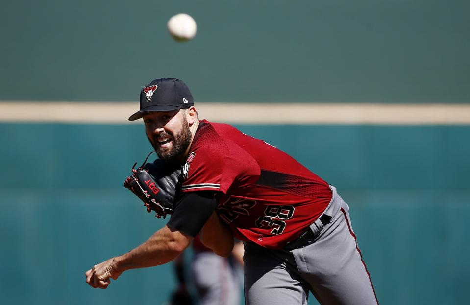 "Arizona Diamondbacks pitcher <a class=""link rapid-noclick-resp"" href=""/mlb/players/9691/"" data-ylk=""slk:Robbie Ray"">Robbie Ray</a> had a breakout 2017 and should provide solid numbers despite not being in the elite class. (AP Photo/Ross D. Franklin)"