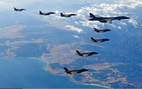 <span>US and South Korea carry out joint drills this week</span> <span>Credit: Handout/Getty </span>