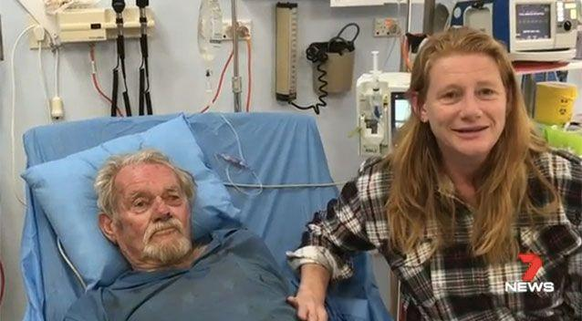 Mr Howell and daughter Danette. Picture: 7 News