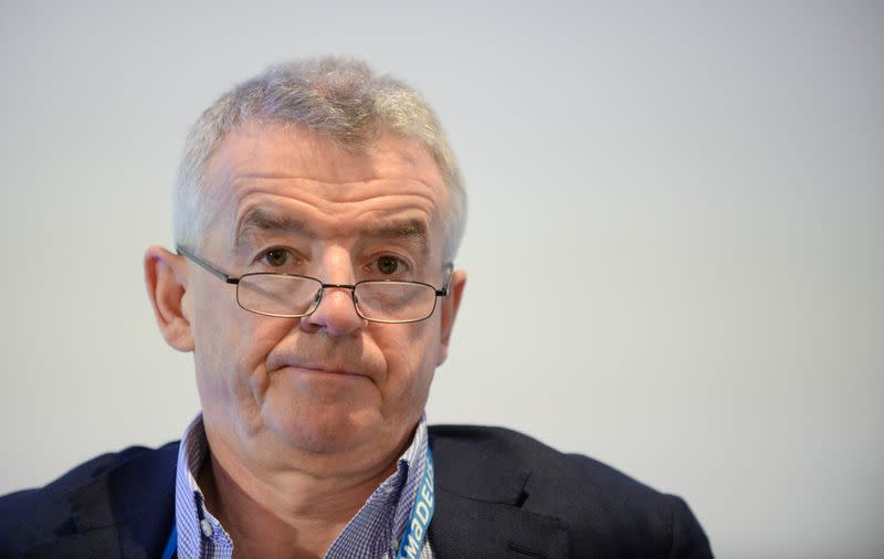 Ryanair Chief Executive Michael O'Leary attends the Europe Aviation Summit in Brussels