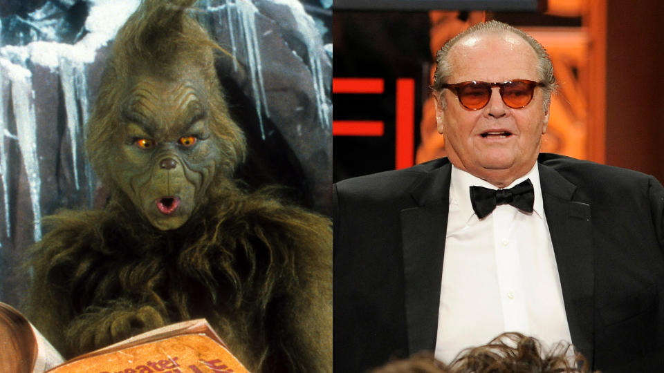 Jack Nicholson was in the frame to play the lead role in 'The Grinch' before Jim Carrey was cast. (Credit: Universal/Getty/Chris Pizzello/Invision/AP)