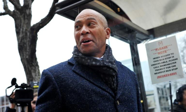 Former Massachusetts governor Deval Patrick entered the 2020 Democratic presidential nomination race months after his rivals, but hopes there is still room to shine in early voting states (AFP Photo/Joseph Prezioso)