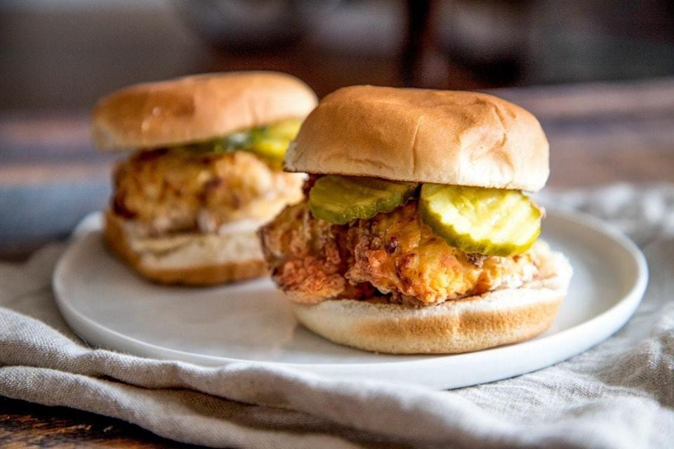 """<p>Now this is the copycat recipe of all copycat recipes! You can make Chick-Fil-A's crispy chicken sandwich in the comfort of your own home when you whip up these mouthwatering burgers. And the best part is, you still get the great taste of crispy chicken without all the oil that's used when they're made by being deep fried. </p> <p><strong>Get the recipe</strong>: <a href=""""https://cookswithsoul.com/air-fryer-chick-fil-a-crispy-chicken-sandwich/"""" class=""""link rapid-noclick-resp"""" rel=""""nofollow noopener"""" target=""""_blank"""" data-ylk=""""slk:air fryer Chick-Fil-A crispy chicken sandwich"""">air fryer Chick-Fil-A crispy chicken sandwich</a></p>"""
