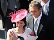 <p>Because of Mike's job at the time, there was rugby royalty alongside real royalty, as Jonny Wilkinson attended with his partner. (Chris Jackson/Getty Images)</p>