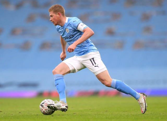 De Bruyne has been with City since 2015 (Mike Egerton/PA).
