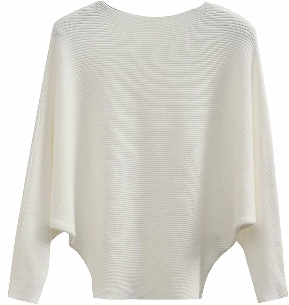 <p>This soft <span>Gaberly Batwing Dolman Knitted Sweater</span> ($25) has earned strong praise from other shoppers - with more than 2,000 reviews, too.</p>