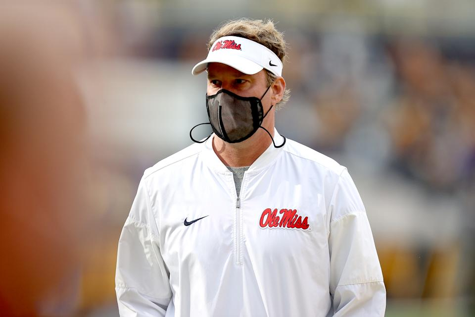Lane Kiffin with Ole Miss.