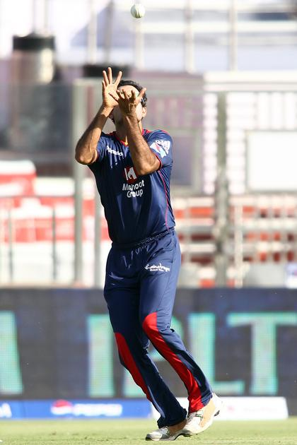 Irfan Pathan of Delhi Daredevils gets under the ball to take the catch to get Kusal Perera of Rajasthan Royals wicket during match 4 of the Pepsi Indian Premier League between Delhi Daredevils and the Rajasthan Royals held at the Feroz Shah Kotla Stadium, Delhi on the 6th April 2013..Photo by Shaun Roy-IPL-SPORTZPICS ..Use of this image is subject to the terms and conditions as outlined by the BCCI. These terms can be found by following this link:..https://ec.yimg.com/ec?url=http%3a%2f%2fwww.sportzpics.co.za%2fimage%2fI0000SoRagM2cIEc&t=1495550428&sig=Qi5gglkLE7lDufeTTR4qjA--~C