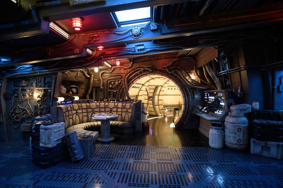 The main hold is one of several areas guests will discover inside Millennium Falcon: Smugglers Run. (Richard Harbaugh/Disney Parks)