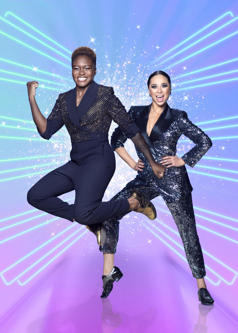 Episode: Launch show (No. n/a) - Picture Shows:  Nicola Adams, Katya Jones - (C) BBC - Photographer: Ray Burmiston