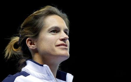 FILE PHOTO: Tennis - Fed Cup Final - France v Czech Republic - Strasbourg, France - 12/11/16 France's team Captain Amelie Mauresmo arrives on the court. REUTERS/Vincent Kessler/File Photo