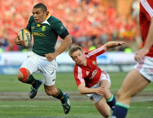 Bryan Habana scored one of his 67 Springboks Test tries against the Lions in 2009