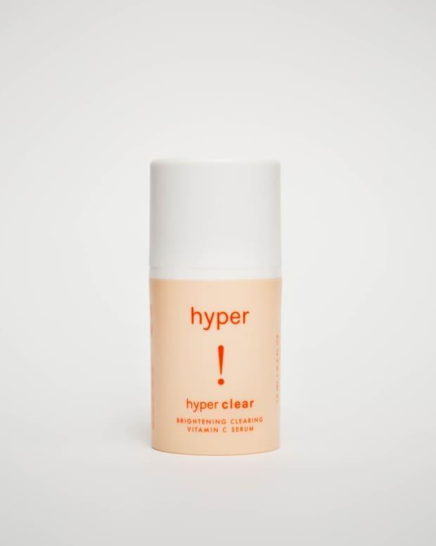 "<p><strong>Hyper Clear Brightening Clearing Vitamin C Serum, $36, <a href=""https://rstyle.me/+Mjbh01g1MUMqs7v5HMo1wg"" rel=""nofollow noopener"" target=""_blank"" data-ylk=""slk:available here"" class=""link rapid-noclick-resp"">available here</a>:</strong> ""A potent dose of vitamin C works with kojic acid to fade dark spots, which seem to have come out in full force for me over the last few months. I love that this serum is non-sticky and also gentle, thanks to the inclusion of aloe and anti-inflammatory turmeric high up on the ingredients list."" —Stephanie Saltzman, Beauty Director</p>"