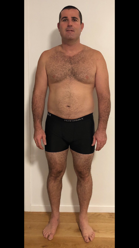 <p>Jack Danswan lost 17.2kg in 8 weeks, smashing his personal goal and shredding 12.7 per cent body fat. The 35 year-old member of F45 Training Balgowlah, NSW. Photo: Supplied/F45 </p>
