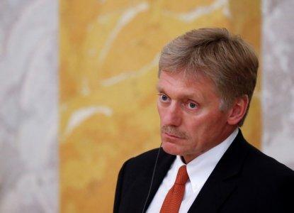 FILE PHOTO: Kremlin spokesman Dmitry Peskov attends a news conference of Russian President Vladimir Putin and his French counterpart Emmanuel Macron in St. Petersburg, Russia May 24, 2018. REUTERS/Grigory Dukor