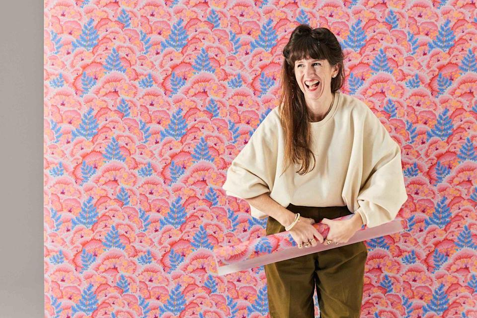 """<p>When web-only paint brand Lick launched last year with its user-friendly site and paint swatches that came as stickers, it was a breath of fresh air. It's no surprise then that its new wallpaper collection is something special. A collaboration with Brighton- based graphic artist and brand consultant Natasha Coverdale sees her psychedelic blooms turned into four wallpaper repeats. 'Electric Poppies', both £125 for a 10.5m roll, <a href=""""https://www.lickhome.com/wallpaper/electric-poppies-01-natasha-coverdale"""" rel=""""nofollow noopener"""" target=""""_blank"""" data-ylk=""""slk:lickhome.com;"""" class=""""link rapid-noclick-resp"""">lickhome.com;</a> <a href=""""https://studiocoverdale.com/"""" rel=""""nofollow noopener"""" target=""""_blank"""" data-ylk=""""slk:studiocoverdale.com"""" class=""""link rapid-noclick-resp"""">studiocoverdale.com</a><br></p>"""