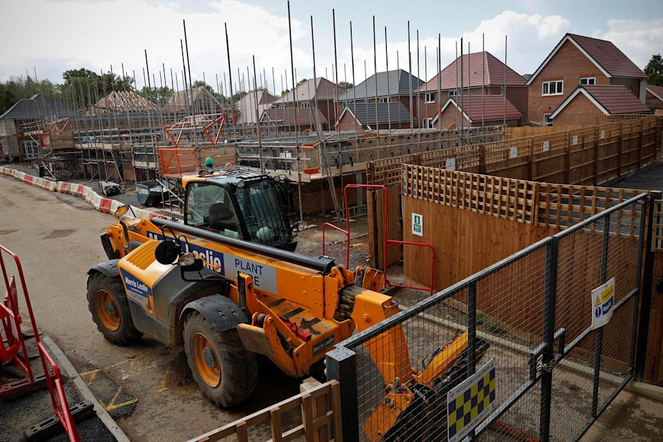New-build homes at a Redrow housing development in Arborfield near Reading, England. Photo: Adrian Dennis/AFP via Getty Images