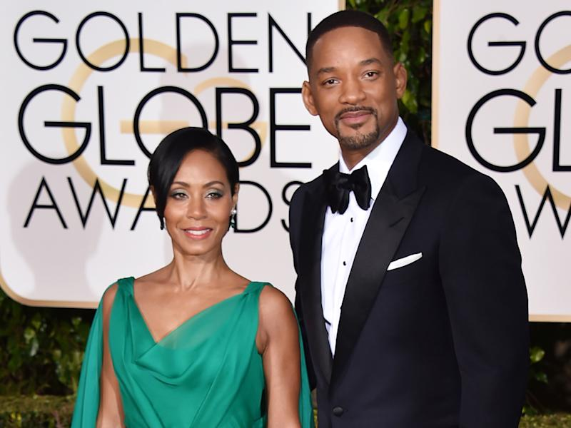FILE - In this Jan. 10, 2016 file photo, Jada Pinkett Smith, left, and Will Smith arrive at the 73rd annual Golden Globe Awards at the Beverly Hilton Hotel in Beverly Hills, Calif. The couple married on Dec. 31, 1997. (Photo by Jordan Strauss/Invision/AP, File)