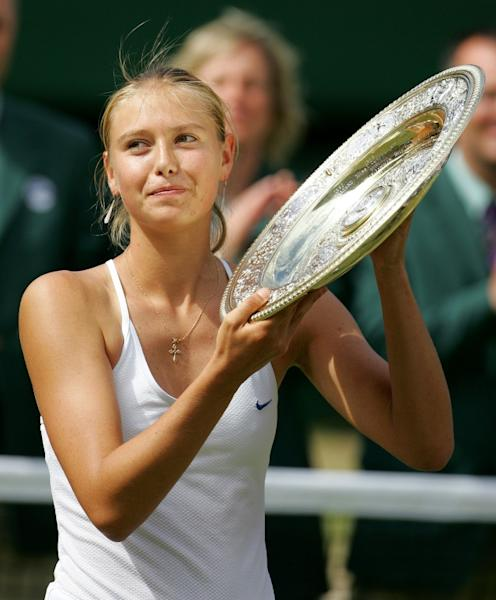 Maria Sharapova won Wimbledon as a 17-year-old in 2004