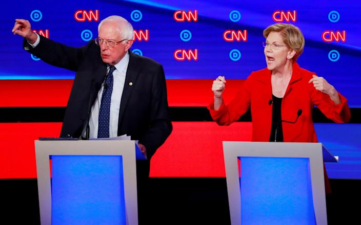 Mr Sanders and Ms Warren have a non-aggression pact - REUTERS