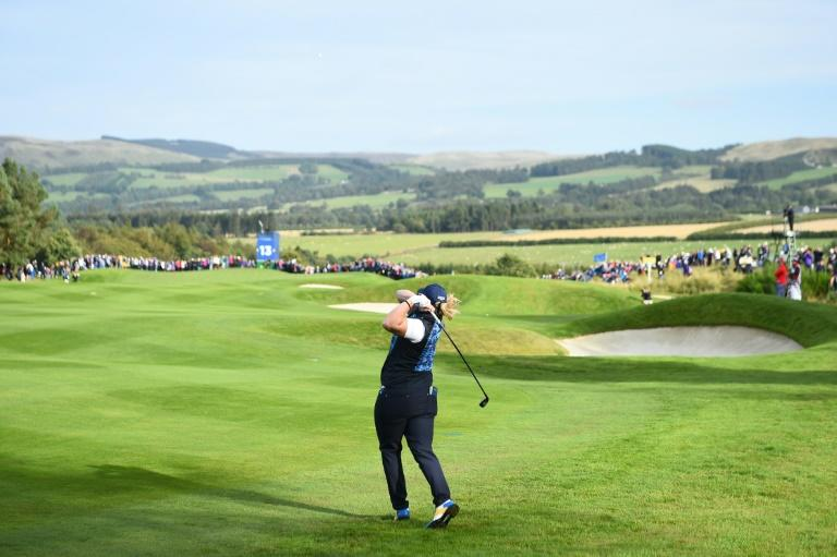 The Solheim Cup golf tournament at the Gleneagles Scotland